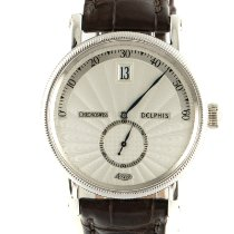 Chronoswiss Delphis White gold 38mm Silver