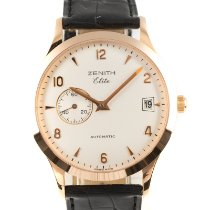 Zenith Yellow gold Automatic White 37mm pre-owned Elite