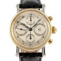 Chronoswiss Chronometer Chronograph Gold/Steel 38mm Silver