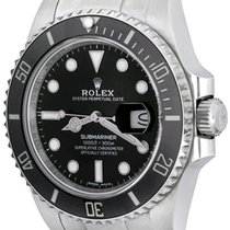 Rolex Automatic Black No numerals 41mm pre-owned Submariner Date