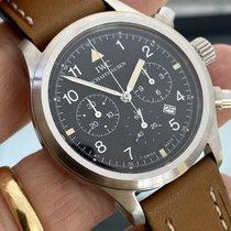 IWC Fliegeruhr Chronograph Sehr gut Silber 36mm Quarz