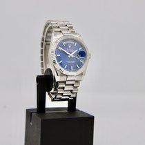 Rolex Day-Date 36 Witgoud 36mm Blauw Nederland, Velp