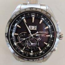 Seiko Astron GPS Solar Chronograph подержанные Черный Сталь
