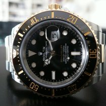 Rolex Sea-Dweller подержанные 43mm Черный Дата Золото/Сталь