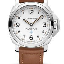 Panerai Luminor Base Logo Steel 44mm White Arabic numerals