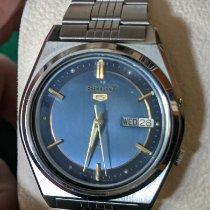 Seiko 5 Steel 37mm Blue No numerals United States of America, Pennsylvania, Warminster