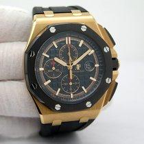 Audemars Piguet Royal Oak Offshore Chronograph Pозовое золото 44mm Черный Без цифр