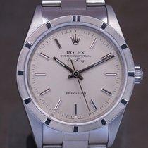 Rolex Air King Precision Steel 34mm Silver No numerals