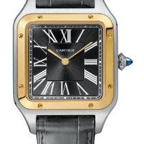 Cartier Santos Dumont Goud/Staal 31.4mm Grijs
