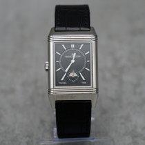 Jaeger-LeCoultre Reverso Duoface gebraucht 47mm Silber Datum Leder