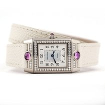 Jaeger-LeCoultre White gold Silver 20mm pre-owned Reverso (submodel)