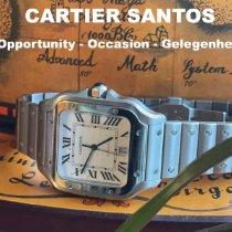 Cartier Stahl Automatik Silber Römisch 39.8mm gebraucht Santos (submodel)