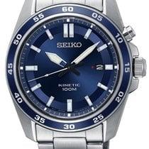 Seiko Kinetic Steel 42mm Blue