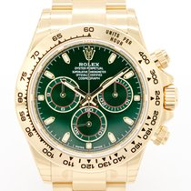 Rolex Daytona Yellow gold 40mm Green No numerals