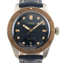 Oris Steel Automatic Blue 40mm pre-owned Divers Sixty Five