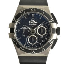 Omega Titanium Automatic Black 35mm pre-owned Constellation Double Eagle