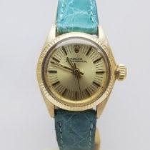 Rolex Ouro amarelo Automático Branco Sem números usado Oyster Perpetual 26