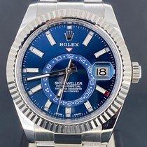 Rolex Sky-Dweller Acier 42mm Bleu Sans chiffres Belgique, Antwerpen