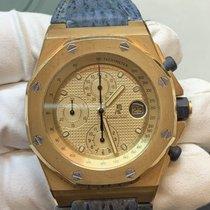 Audemars Piguet Желтое золото Автоподзавод Золотой Без цифр 42mm подержанные Royal Oak Offshore Chronograph