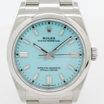 Rolex Oyster Perpetual 36 Сталь 36mm Синий Без цифр