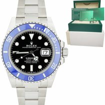 Rolex White gold Automatic Black 40mm new Submariner Date