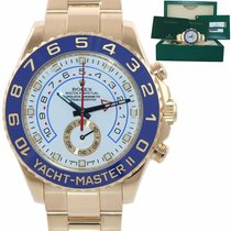 Rolex Yellow gold Automatic White 44mm pre-owned Yacht-Master II