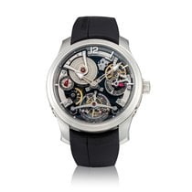 Greubel Forsey Double Tourbillon 30° Platinum 47.5mm Transparent United States of America, New York, New York