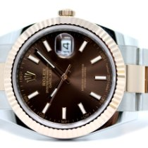 Rolex Datejust II Gold/Steel 41mm Brown No numerals