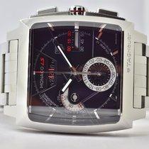 TAG Heuer Monaco Calibre 12 Steel 40,5mm Black No numerals