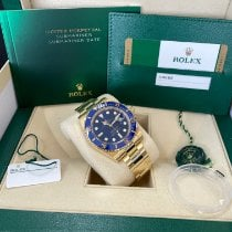 Rolex Submariner Date Yellow gold 40mm Blue No numerals United States of America, New Jersey, Totowa