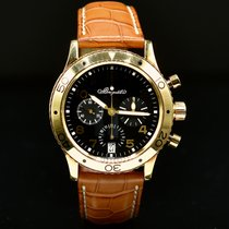 Breguet Yellow gold Automatic Black Arabic numerals 39mm pre-owned Type XX - XXI - XXII