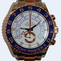 Rolex Yacht-Master II Or/Acier 44mm Blanc Sans chiffres