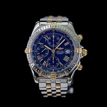 Breitling Crosswind Racing Gold/Steel 43mm Blue Roman numerals