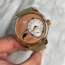 F.P.Journe Octa pre-owned 42mm Pink Moon phase Date Crocodile skin