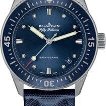 Blancpain Fifty Fathoms Bathyscaphe Steel 38mm Blue No numerals United States of America, New York, New York City