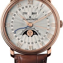 Blancpain Villeret Quantième Complet Rose gold 40mm Silver Roman numerals United States of America, New York, New York City