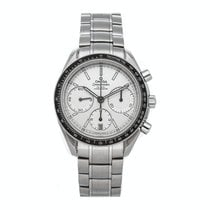 Omega Speedmaster Racing pre-owned 40mm Silver Chronograph Date Tachymeter Fold clasp