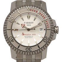 Tissot Seastar 1000 gebraucht 44mm Silber Stahl