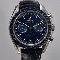 Omega Титан Автоподзавод Синий 44.2mm подержанные Speedmaster Professional Moonwatch