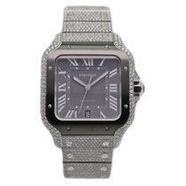 Cartier Santos (submodel) neu 2020 Automatik Uhr mit Original-Box und Original-Papieren WSSA0037