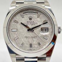 Rolex Day-Date 40 Platine 40mm Argent Romains