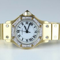 Cartier Santos (submodel) Gelbgold 25mm Weiß Römisch Deutschland, Villingen Schwenningen
