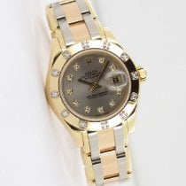 Rolex Lady-Datejust Pearlmaster Oro amarillo 29mm Gris