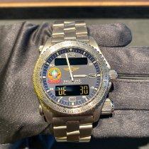 Breitling Emergency Titan 43mm Blau Arabisch