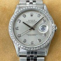 Rolex Datejust Stål 36mm Silver Inga siffror