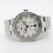 Ulysse Nardin Maxi Marine Diver pre-owned 40mm White Date Steel