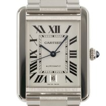 Cartier Steel Automatic Silver 33mm pre-owned Tank Solo