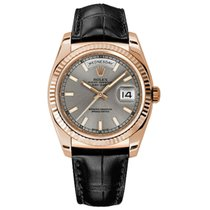 Rolex Day-Date 36 Rose gold 36mm Silver No numerals United States of America, New York, New York