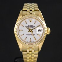 Rolex Lady-Datejust Yellow gold 26mm White No numerals