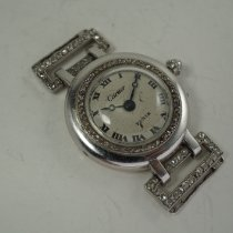 Cartier Platinum Manual winding Silver Roman numerals 23mm pre-owned Tank Française